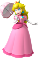 Peach with ther Parasol