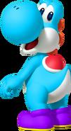 Blue Yoshi - Mario Kart X