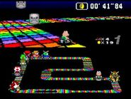 SMK SNES Rainbow Road 3