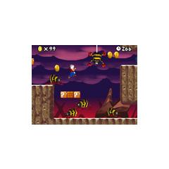 A few Scuttlebugs in World 8-4 (<i>New Super Mario Bros.</i>).