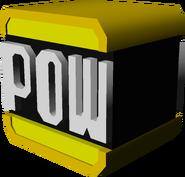 Gold POW Block Model - Koopa Kart 7