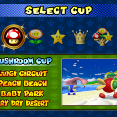 Selecting cup.