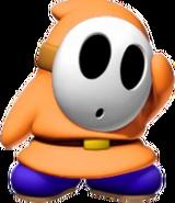 Orange Shy Guy - Mario Kart X