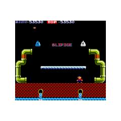 A <i>Mario Bros.</i> screenshot showing two original