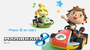 Mario Kart 8 Title Screen (Villager and Isabelle)