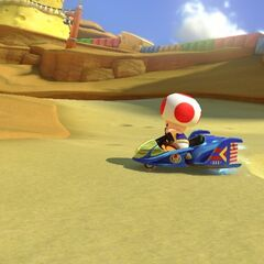 Toad racing in the track.