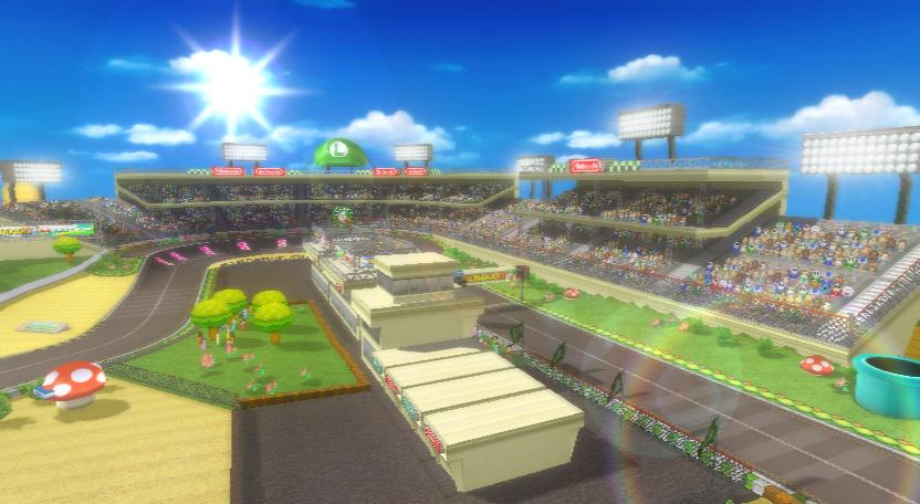 Luigi Circuit The Course In Mario Kart Wii