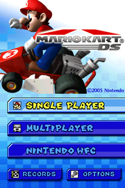 Title Screen (Mario Kart DS)