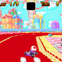 Toad drifting on a corner.