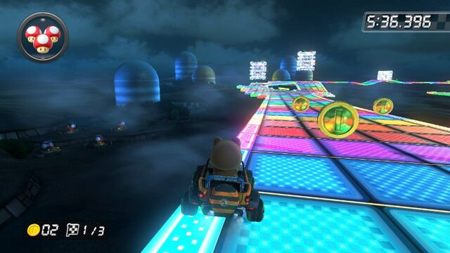 File:SNES Rainbow Road (Mario Kart 8) 7.jpg