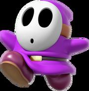 Purple Shy Guy - Mario Kart X