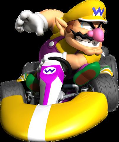 File:Wario Artwork - Mario Kart Wii.png