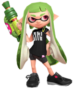 Green Inkling Girl - Mario Kart X