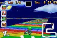 Rainbow Road (SNES) | Mario Kart Racing Wiki | FANDOM