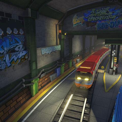 The subway.
