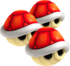 Triple Red Shells - Mario Kart Wii