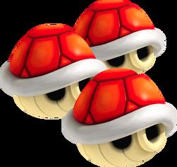 Triple Red Shells - Mario Kart Wii