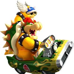 Artwork of Bowser holding a <a href=