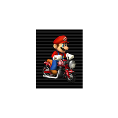 Mario on his Zip Zip.