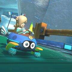 Rosalina on the anti-gravity section of the track.