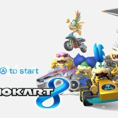 Ludiwig in the title screen with the other Koopalings.
