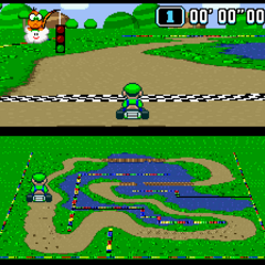 Luigi doing a Time Trial.