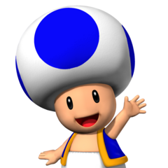 Blue Toad and his friendly wave.
