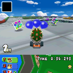 Block City in the <i>Mario Kart DS</i> demo version, accessed with action replay codes.