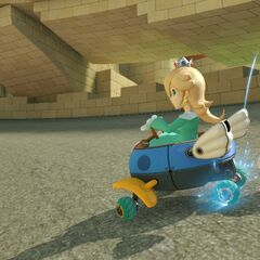 Rosalina, drifting around one of the alleyways.