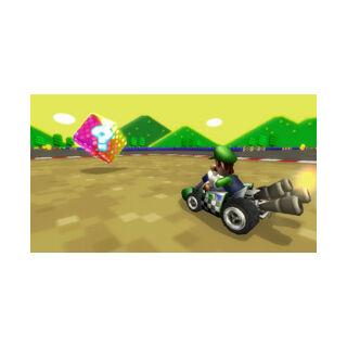 Luigi competing in a <a href=