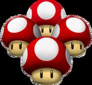 Triple Mushrooms but 4 of them
