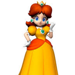 Princess Daisy, a fun-loving, lively racer in Mario Kart.