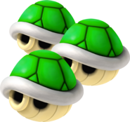 Triple Green Shells - Mario Kart Wii