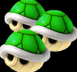 Triple Green Shells - Mario Kart Wii