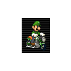Luigi on his Zip Zip.