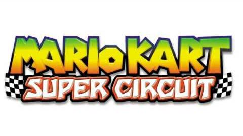 Mario Kart Super Circuit SNES Rainbow Road