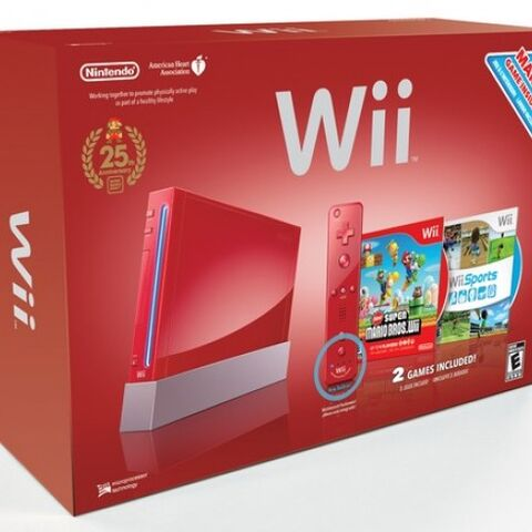 The packaging of the Red Wii.