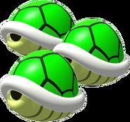Triple Green Shells - Mario Kart DS