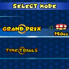 Selecting Grand Prix class.