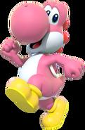 Pink Yoshi - Mario Kart X