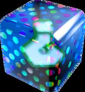 Borderless Blue Fake Item Box - Mario Kart Wii