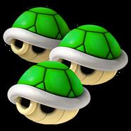 Triple Green Shell Icon - Mario Kart Wii