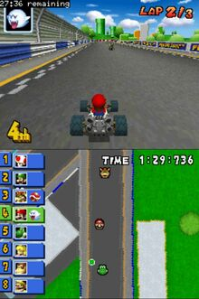 Boo item in Mario Kart Ds