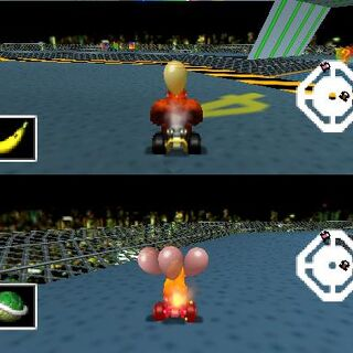 The stage in <i>Mario Kart 64</i>.