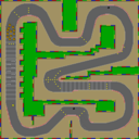 SNES Mario Circuit 3 map