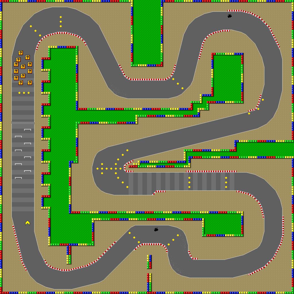 mario kart wii tracks map