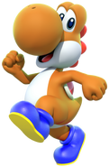 Orange Yoshi - Mario Kart X