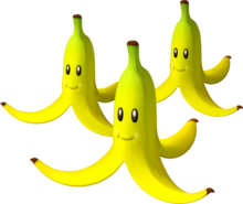Triple Bananas Artwork - Mario Kart Wii