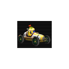 Bowser Jr. in his Classic Dragster.