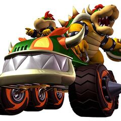 With Bowser in Mario Kart: Double Dash!!